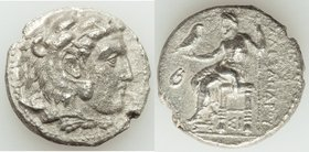 MACEDONIAN KINGDOM. Alexander III the Great (336-323 BC). AR tetradrachm (26mm, 16.34 gm, 6h). VF. Lifetime issue of Sidon, under Menon. dated Regnal ...