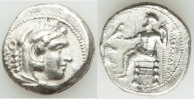 MACEDONIAN KINGDOM. Alexander III the Great (336-323 BC). AR tetradrachm (25mm, 16.80 gm, 11h). XF, porosity. Lifetime or early posthumous issue of Da...