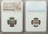 MACEDONIAN KINGDOM. Alexander III the Great (336-323 BC). AR drachm (17mm, 2h). NGC XF. Posthumous issue of Lampsacus, ca. 310-301 BC. Head of Heracle...