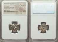 THRACIAN KINGDOM. Lysimachus (305-281 BC). AR drachm (17mm, 11h). NGC Choice AU. Posthumous issue of 'Colophon' in the name and types of Alexander III...