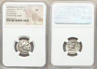 THRACIAN KINGDOM. Lysimachus (305-281 BC). AR drachm (19mm, 12h). NGC XF. Posthumous issue of Magnesia, ca. 305-297 BC. Head of Heracles right, wearin...