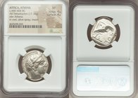 ATTICA. Athens. Ca. 440-404 BC. AR tetradrachm (24mm, 17.16 gm, 8h). NGC XF 4/5 - 4/5. Mid-mass coinage issue. Head of Athena right, wearing crested A...