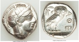 ATTICA. Athens. Ca. 440-404 BC. AR tetradrachm (23mm, 17.23 gm, 7h). VF. Mid-mass coinage issue. Head of Athena right, wearing crested Attic helmet or...