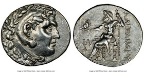 LYCIA. Phaselis. Ca. 218-185 BC. AR tetradrachm (32mm, 12h). NGC AU. Issue in the name and types of Alexander III the Great of Macedon, dated Civic Ye...