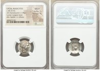 LYCIAN LEAGUE. Masicytes. Ca. 48-20 BC. AR hemidrachm (17mm, 1.98 gm, 12h). NGC MS S 5/5 - 4/5. Series 3. Laureate head of Apollo right; Λ-Y below / M...