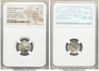 LYCIAN LEAGUE. Masicytes. Ca. 48-20 BC. AR hemidrachm (16mm, 1.76 gm, 12h). NGC MS 5/5 - 4/5. Series 5. Laureate head of Apollo right; Λ-Y below / M-A...