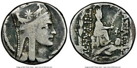 ARMENIAN KINGDOM. Tigranes II the Great (95-56 BC). AR tetradrachm (25mm, 1h). NGC VG, scuff. Antioch, ca. 83-70. Diademed and draped bust right, wear...