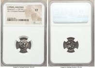 CYPRUS. Amathus. Rhoecus. Ca. 350 BC. AR third stater or tetrobol (14mm, 9h). NGC XF. Lion's head right / Forepart of lion right, head facing. SNG Cop...