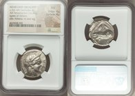 NEAR EAST or EGYPT. Ca. 5th-4th centuries BC. AR tetradrachm (23mm, 16.30 gm, 8h). NGC AU 4/5 - 4/5. Head of Athena right, wearing crested Attic helme...