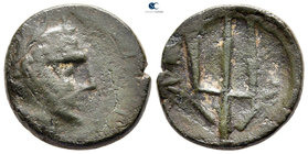 Eastern Europe. Imitating Amphipolis mint issue 150-50 BC. Bronze Æ
