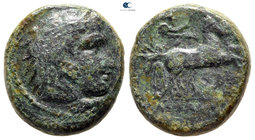 Kings of Macedon. Uncertain mint. Kassander 306-297 BC. Bronze Æ