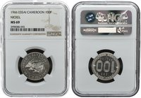 Cameroon 100 Francs 1966. NGC MS 69