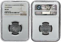 Cameroon 1 Franc 1969. NGC MS 68