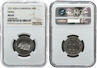 Cameroon 100 Francs 1971. NGC MS 69