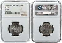 Cameroon 100 Francs 1975. NGC MS 69