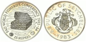 Seychelles 25 Rupees 1983. World Fisheries Conference