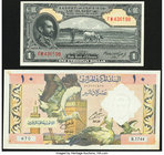 Algeria Banque Centrale d'Algerie 10 Dinars 1964 Pick 123a About Uncirculated; Ethiopia State Bank of Ethiopia 1 Dollars ND (1945) Pick 12c Crisp Unci...