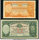 Australia Commonwealth Bank of Australia 10 Shillings ND (1939) Pick 25a; 1 Pound ND (1942) Pick 26b Fine or Better.   HID09801242017