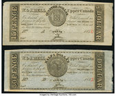 Perth, UC- W. & J. Bell 15 Pence/Quarter Dollar; 30 Pence/Half Dollar 183_ Remainders Very Fine or Better. Each date partially falsely filled in.  HID...
