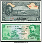 Ethiopia State Bank of Ethiopia 1 Dollar ND (1945) Pick 12b; ND (1961) Pick 18 Choice Crisp Uncirculated.   HID09801242017