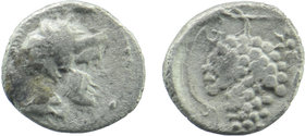 CILICIA, Soloi. Circa 410-375 BC. AR Obol Helmeted head of Athena right. Rev:Grape bunch with tendril; SNG von Aulock 5872 0,60 gr. 10 mm