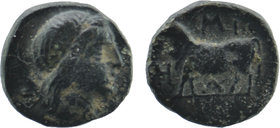 MYSIA. Miletopolis. Ae (4th century BC).