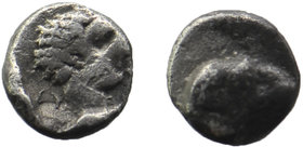 Troas, Kebren, c. 387-310 BC. AR Obol Ram's head right / Youthful male head right.  SNG Ashmolean –; SNG Copenhagen –; SNG von Aulock 7621; Klein 313....