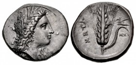 LUCANIA, Metapontion. Circa 330-290 BC. AR Nomos (23.5mm, 7.92 g, 1h).