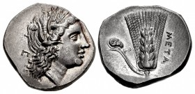 LUCANIA, Metapontion. Circa 290-280 BC. AR Nomos (22mm, 7.84 g, 11h).