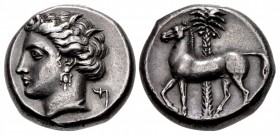 SICILY, Entella. Punic issues. Circa 345/38-320/15 BC. AR Tetradrachm (22.5mm, 17.21 g, 1h).