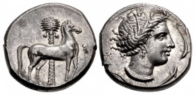 SICILY, Entella. Punic issues. Circa 345/38-320/15 BC. AR Tetradrachm (25mm, 16.95 g, 7h).