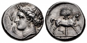 SICILY, Entella. Punic issues. Circa 345/38-320/15 BC. AR Tetradrachm (26mm, 17.19 g, 11h).