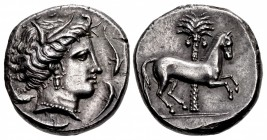 SICILY, Entella. Punic issues. Circa 345/38-320/15 BC. AR Tetradrachm (25mm, 17.23 g, 1h).