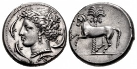 SICILY, Entella. Punic issues. Circa 345/38-320/15 BC. AR Tetradrachm (26mm, 17.16 g, 9h).