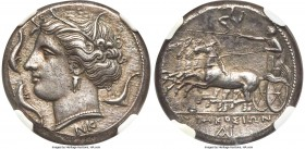 SICILY. Syracuse. Agathocles (317-289 BC). AR tetradrachm (25mm, 17.08 gm, 6h). NGC Choice XF S 5/5 - 5/5, Fine Style. Pre-royal coinage, ca. 310-305 ...
