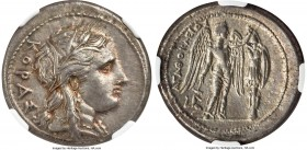 SICILY. Syracuse. Agathocles (317-289 BC). AR tetradrachm (28mm, 17.16 gm, 10h). NGC AU 4/5 - 3/5, light scratches, die shift. Ca. 305-295 BC. KOPAΣ, ...