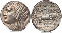 SICILY. Syracuse. Philistis, wife of Hieron II (275-215 BC). AR 16-litrae (26mm, 13.56 gm, 7h). NGC Choice AU 5/5 - 5/5, Fine Style. Ca. 240-215/4 BC....