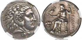 MACEDONIAN KINGDOM. Alexander III the Great (336-323 BC). AR tetradrachm (27mm, 17.18 gm, 11h). NGC Choice XF 5/5 - 3/5, Fine Style, edge marks. Early...