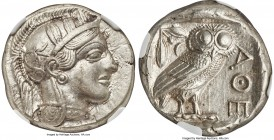 ATTICA. Athens. Ca. 440-404 BC. AR tetradrachm (23mm, 17.17 gm, 4h). NGC Choice AU S 5/5 - 5/5, Full Crest. Mid-mass coinage issue. Head of Athena rig...