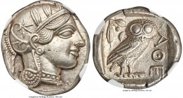 ATTICA. Athens. Ca. 440-404 BC. AR tetradrachm (24mm, 17.20 gm, 4h). NGC Choice AU S 5/5 - 5/5, Fine Style. Mid-mass coinage issue. Head of Athena rig...