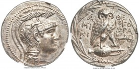 ATTICA. Athens. Ca. 2nd-1st centuries BC. AR tetradrachm (30mm, 16.80 gm, 11h). NGC AU S 5/5 - 4/5. New style coinage, ca. 137/6 BC, Miki- and Theophr...
