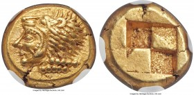 IONIA. Erythrae. Ca. 550-500 BC. EL sixth-stater or hecte (10mm, 2.56 gm). NGC Choice AU S 5/5 - 5/5. Head of Heracles left, wearing lion skin headdre...