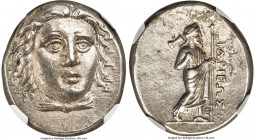 CARIAN SATRAPS. Hidrieus (ca. 351-344 BC). AR tetradrachm (24mm, 15.14 gm, 1h). NGC Choice AU 5/5 - 4/5. Head of Apollo facing, turned slightly right,...