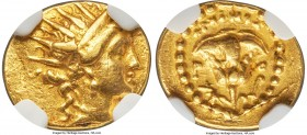 CARIAN ISLANDS. Rhodes. Ca. 188-84 BC. AV quarter-stater (12mm, 2.18 gm, 12h). NGC Choice VF 5/5 - 2/5, edge marks, slight bend. Ca. 125-88 BC, Archin...