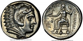 MACEDONIAN KINGDOM. Alexander III the Great (336-323 BC). AR tetradrachm (26mm, 17.18 gm, 12h). NGC Choice AU S 5/5 - 4/5. Early posthumous issue of '...