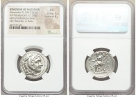 MACEDONIAN KINGDOM. Alexander III the Great (336-323 BC). AR tetradrachm (26mm, 17.22 gm, 12h). NGC AU 5/5 - 4/5. Posthumous issue of Amphipolis, ca. ...