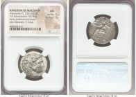 MACEDONIAN KINGDOM. Alexander III the Great (336-323 BC). AR tetradrachm (25mm, 16.96 gm, 7h). NGC AU 5/5 - 3/5. Early posthumous issue of Sidon, date...