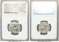 MACEDONIAN KINGDOM. Alexander III the Great (336-323 BC). AR tetradrachm (25mm, 16.99 gm, 12h). NGC Choice XF 4/5 - 3/5. Late lifetime-early posthumou...
