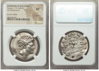MACEDONIAN KINGDOM. Perseus (179-168 BC). AR tetradrachm (31mm, 11h). NGC XF, brushed, punch marks. Reduced standard, Pella or Amphipolis, ca. 171-168...