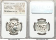 THRACIAN KINGDOM. Lysimachus (305-281 BC). AR tetradrachm (31mm, 17.17 gm, 10h). NGC Choice XF 5/5 - 4/5. Amphipolis, 288-282 BC. Diademed head of dei...